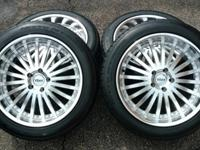 This is a full set of four Vxx Borsa wheels/rims