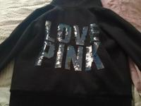VS PINK fur lined hoodie for sale. No flaws in