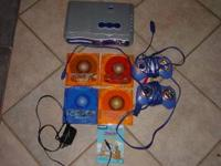 Vtech Learning System with 2 Controllers and 4 Games