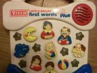VTECH LITTLE SMART FIRST WORDS PLUS IN VERY GOOD CLEAN