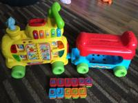 Gently used alphabet train in excellent condition.