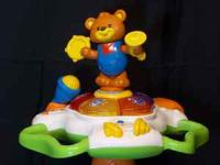 VTECH SIT TO STAND DANCING BEAR TOWER, MUSICAL WITH