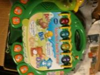 I have a very cute turtle vtech toy you can sit on and