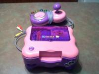 Purple and Pink VTech Vsmile comes with 4 games. $25