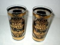 These vintage glasses are from Magic Mountain Six