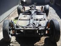 67,Vw Bug pan front end, pan, Transaxle, wheels