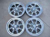 4 polished wheels made in USA, 4 lug 130mm bolt pattern