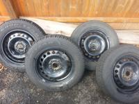 have 4 volkswagen 15 inch (5x112 lug) steel wheels for