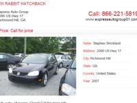 For more information about 07 VW RABBIT HATCHBACK visit