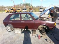 Volkswagon rabbit diesel 4 door wrecked in the front