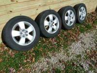 "4 OEM VW Aluminum 15"" Rims in fair shape with (4)"