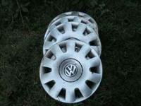 """Set of 4 silver VW hubcaps 15"""". Excellent condition."""