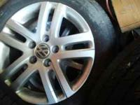 I am selling a set of 4 vw wheels for 200 obo. The