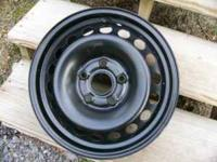 Four new VW steel factory wheels, 15 in. with a 5 X