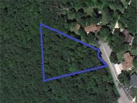 Ridge top lot, heavily wooded, with valley views on a