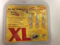 WAC'EM BROADHEADS 12 PACKS  100 GRAIN TRITON XL TRUE