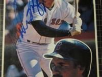 wade boggs '85 donruss 3x5 card signed $18.00, a johnny