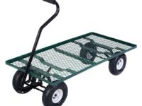 This open-sided wagon cart is perfect for hauling up to