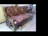 I am selling this set of wooden, wagon wheel chair and