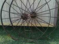 "We have several wagon wheels. 2-30""=$125.00 for pr"