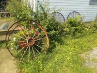 We have several old wagon wheels that came from a Ohio