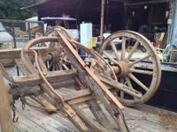 This is a great set of Wagon wheels and frame. Includes