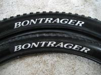 One pair of Bontrager 26 x 2.00 LT3 bicycle tires, used
