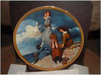 Waiting at the Dance Norman Rockwell Collector Plate -