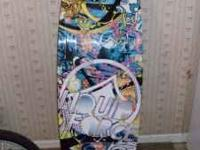 143 cm Liquid Force wakeboard with boots. Boots fit