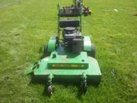 36 inch john deere commercial mower in good shape