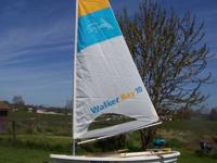 Walker Bay 10 foot sail boat / rowboat and trailer with