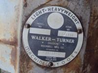Walker Turner Drill Press Head Good Donor or restore