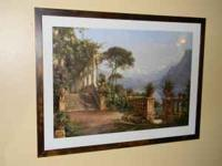 Large Two Pictures of Lake Como,Perfect condition