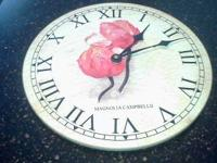 THIS IS A PRETTY WALL CLOCK THAT YOU CAN USE IN JUST