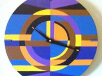 Modern Wall Clock. Home Dcor, Functional Art. Hand