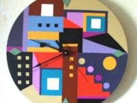 "Southwest Wall Clock. ""CITY OF ALBUQUERQUE"". Decorative"