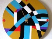 Wall Clock, Southwestern design. Functional Art Room