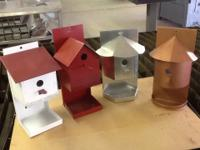 Bird house feeder combos made from 22 gauge metal