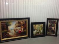 I'm selling 1 wall mirror and 3 paintings which are all