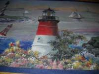 "Wall paper Border Light house 9"" high , 5 yards on a"