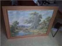 Beautiful picture, vintage cleaned and reframed, its in