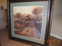 Beautiful tree grove picture. Measures 35x35. Sage