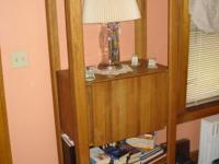 Wall Unit Solid Oak Included two book cases A light
