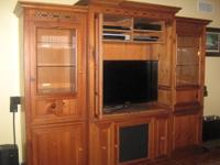I am selling an entertainment center/wall unit. The