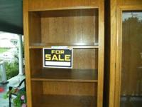 One of Two Oak Wall Units for sale...three open shelves