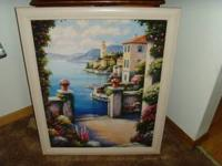 Beautiful framed print. Approx: Size with frame 31""