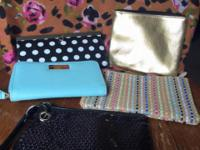 I have wallets and make up bags for sale. In good