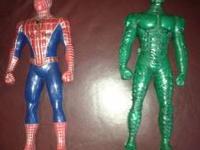 Working Spiderman and Green-lantern walker talkies like