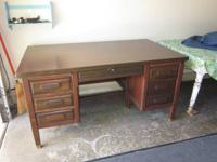 Antique walnut desk made by Mc cloud furniture co.