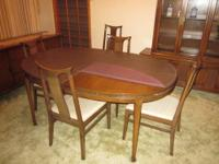 High Quality WALNUT 3-Piece Dining Room Set with 6
